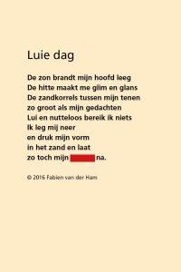 Raadgedicht van Fabien van der Ham