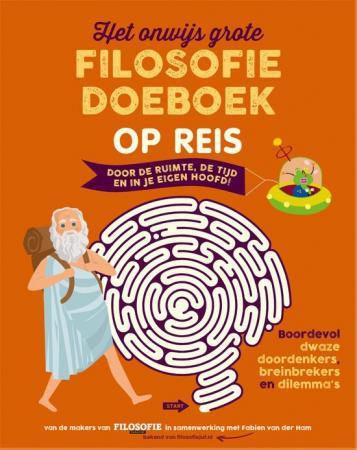 Cover Het Onwijs Grote Filosofie Doeboek Op Reis