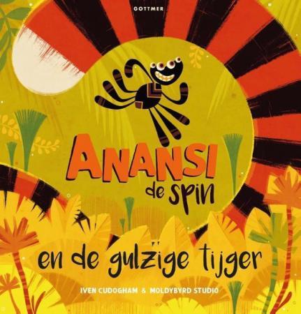 Voorkant Anansi de spin en de gulzige tijger